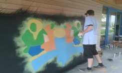 Graffiti Aktion Jugendhaus